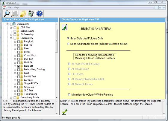 Fig. 2. Folder and file selection criterion applied during cleaning process.